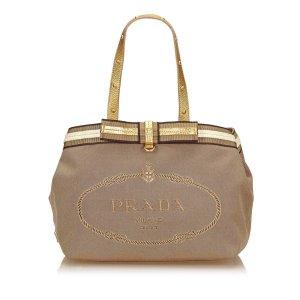 Prada Logo Jacquard Tote Bag
