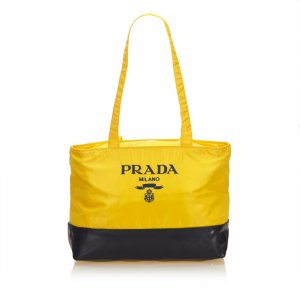 Prada Shoulder Bag yellow nylon