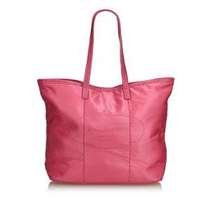 Prada Logo Nylon Tote Bag