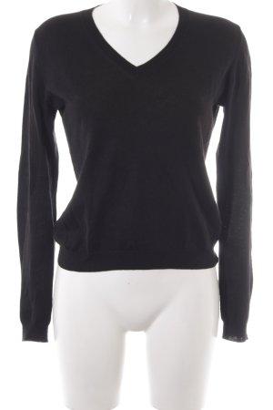 Prada Longpullover schwarz minimalistischer Stil