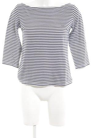 Prada Longsleeve weiß-schwarz Streifenmuster Casual-Look