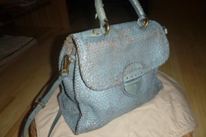 Prada Satchel turquoise-beige leather