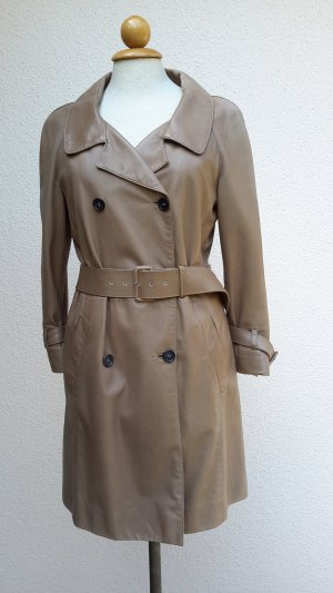 *PRADA* Mantel/Trenchcoat LEDER  Gr 36/38 (it.42)schlamm NP €3000,-