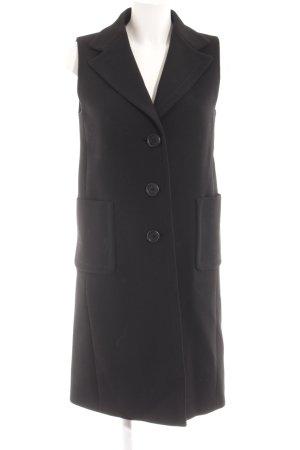 Prada Geklede jurk zwart klassieke stijl