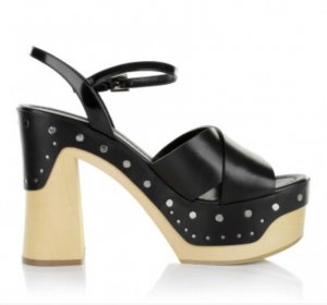 PRADA mega HOT Blockabsatz Sandale mit Nieten