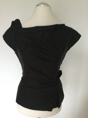 Prada: Mega-stylische, taillierte Bluse mit tollen Falten-Drappierungen, fast wie neu
