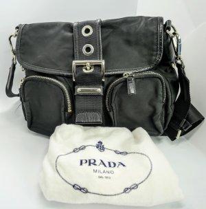 Prada Messenger Bag Tessuto Stoff mit Leder