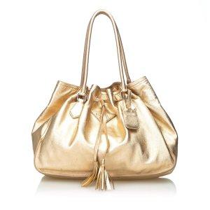 Prada Bolso de compra color oro Cuero