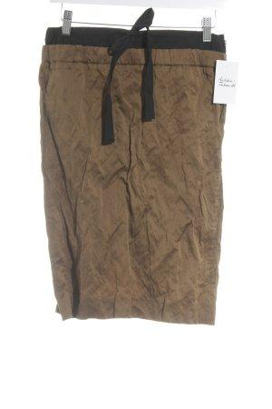 Prada Falda midi camel estilo extravagante