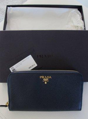 PRADA Milano Portemonnaie/Geldbörse (blau) - NEU  NP 499,-€ !