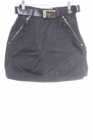 Prada Mini rok zwart feest stijl