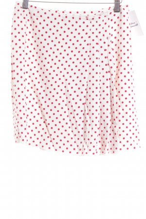 Prada Miniskirt natural white-dark red spot pattern casual look