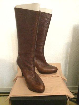 Prada Miu Miu Boots Stiefel Gr. 40 braun