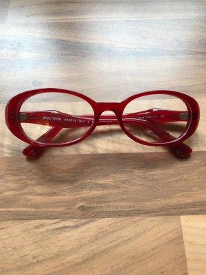 Miu Miu Gafas carmín Material sintético