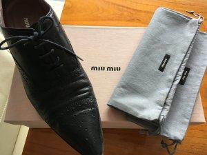Miu Miu Protège-orteil noir cuir