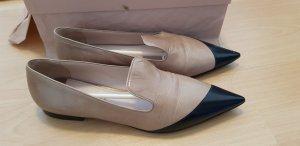 prada miu miu spitze ballerina pointy flats loafer nude