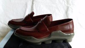 Prada Moccasins bordeaux-grey leather