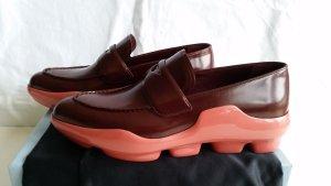 Prada Moccasins bordeaux-salmon leather