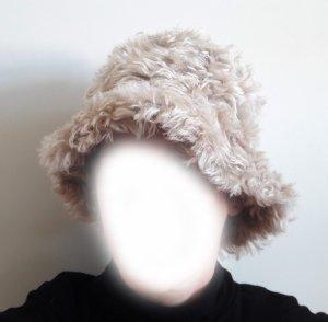 PRADA Mütze, Cap, Damen Hut, Wolle, beige, klassisch