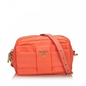 Prada Nylon Bow Crossbody Bag