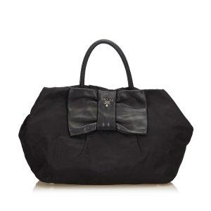Prada Nylon Bow Tote Bag