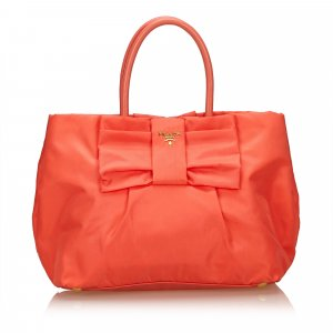 Prada Nylon Bow Tote Bag