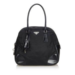 Prada Nylon Bowler Handbag