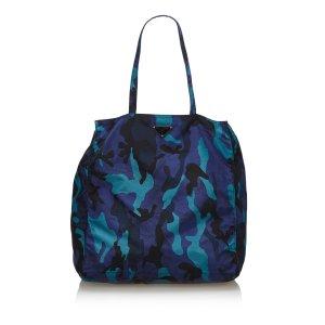 Prada Nylon Camouflage Tote Bag
