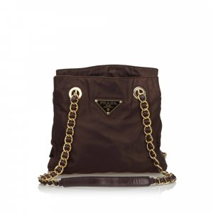 Prada Shoulder Bag brown nylon