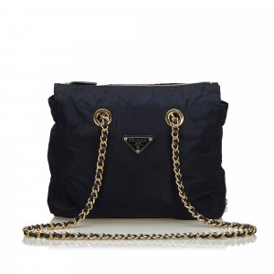 Prada Shoulder Bag blue nylon