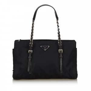 Prada Nylon Chain Shoulder Bag