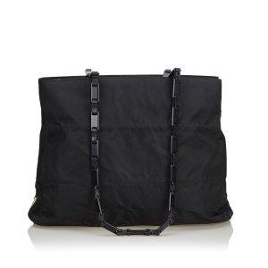 Prada Nylon Chain Tote Bag