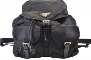 Prada Backpack black cotton