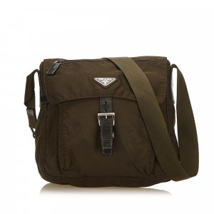 Prada Crossbody bag khaki nylon
