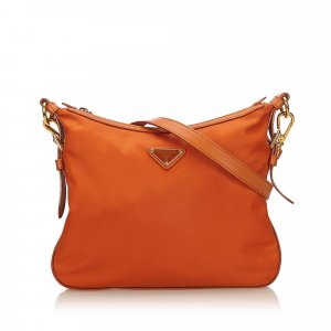 Prada Sac bandoulière orange nylon
