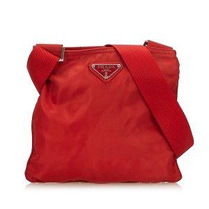 Prada Sac bandoulière rouge nylon
