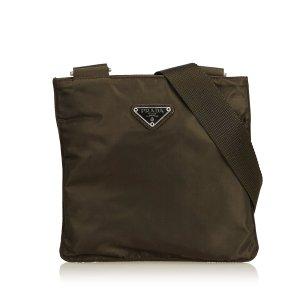 Prada Sac bandoulière brun foncé nylon