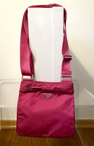 Prada Nylon Crossbody Bag in Knallpink