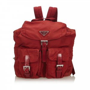 Prada Backpack red nylon