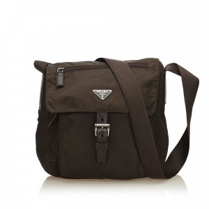 Prada Crossbody bag dark brown nylon