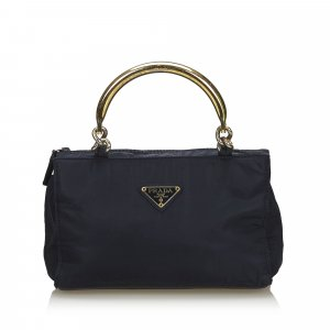 Prada Nylon Metal Handbag