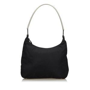 Prada Nylon Metal Shoulder Bag