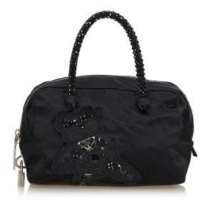 Prada Nylon Raso Bear Mini Handle Bag
