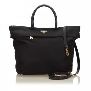 Prada Satchel black nylon