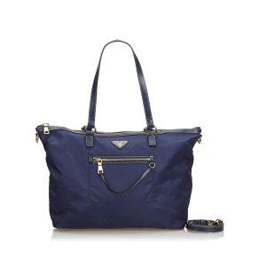 Prada Satchel blue nylon