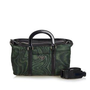 Prada Satchel green nylon