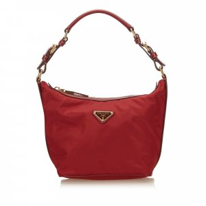 Prada Shoulder Bag red nylon