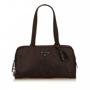 Prada Shoulder Bag dark brown nylon