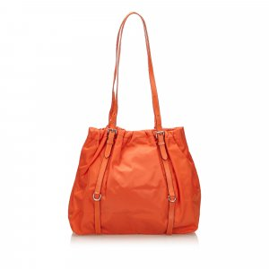Prada Sac porté épaule orange nylon