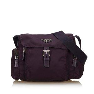 Prada Sac porté épaule violet nylon